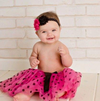Hot Pink With Black Polka Dots Tutu - Dress Up Dreams