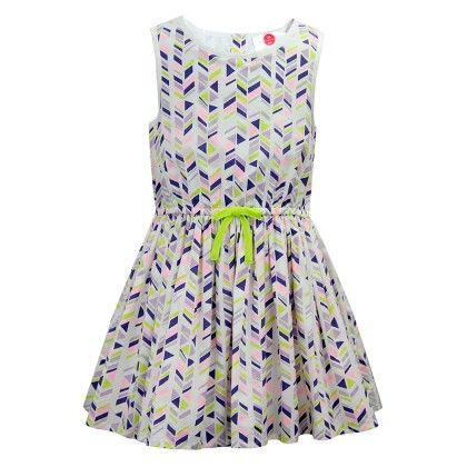 The Cranberry Club Chevron Print Dress