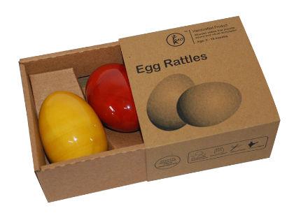 Egg Rattle- Set Of 2 - Maya Organic