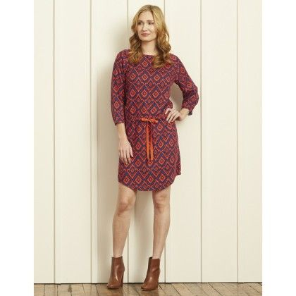 Dropped Waist Dress - Ikat - Hatley