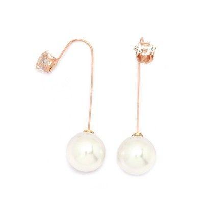 Pearl Needle Drop Earrings - Miss Flurrty