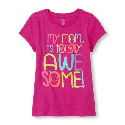 Short Sleeve 'my Mom Is Totally Awesome' Graphic Tee - The Children's Place