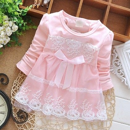 Peach Girl Pretty Pink Lace Dress