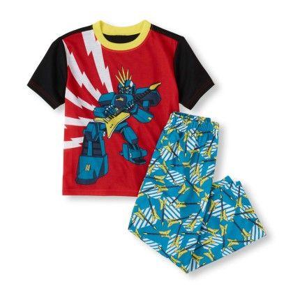 Short Sleeve Robot Rockstar Top & Printed Pants Pj Set - The Children's Place