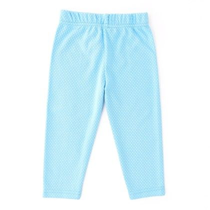 Polka Dot Legging Light Blue - Naturelle