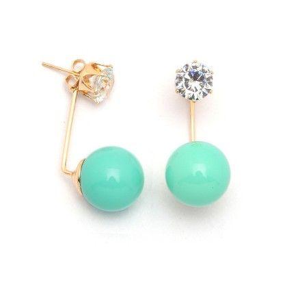Aqua Ball Drop Earrings - Miss Flurrty