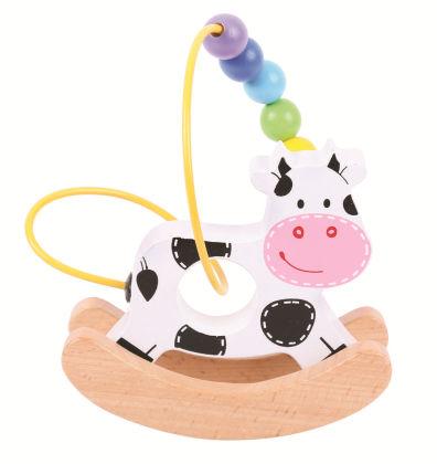 Rocking Bead Cow Frame - Big Jig Toys