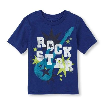 Short Sleeve 'rock Star' Graphic Tee - The Children's Place