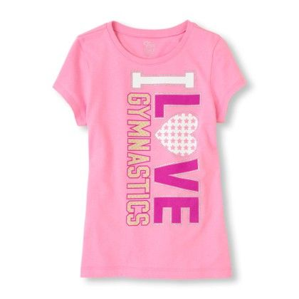 Short Sleeve 'i Love Gymnastics' Graphic Tee - The Children's Place