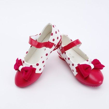 Rose Red Bow Shoes - Kabu Shoes
