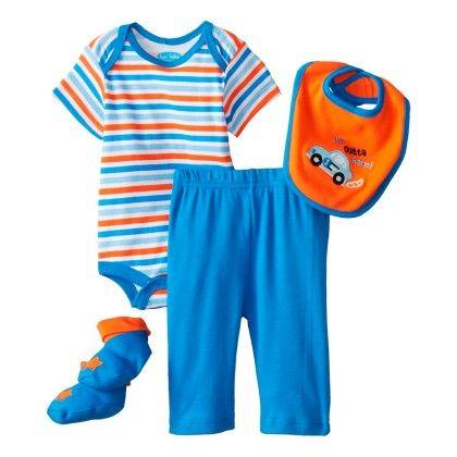 Baby-boys Newborn I'm Outta Here 4 Piece Pant Set - Bon Bebe