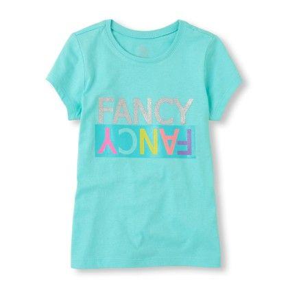 Short Sleeve 'fancy Fancy' Glitter Graphic Tee - The Children's Place