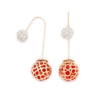 Gold Cage Needle Drop Earrings - Miss Flurrty