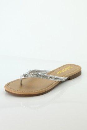 Silver Marie Flip-flop - Bella Marie