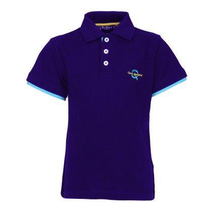 Cool Quotient Basic Logo Polo-royal Blue