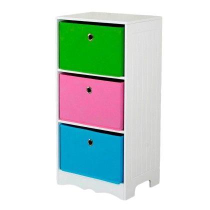 Kids 3 Drawer Storage Shelf - HDS