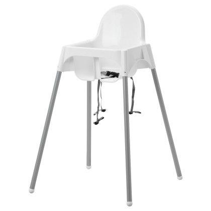 Highchair With Safety Belt - White - Home Essentials
