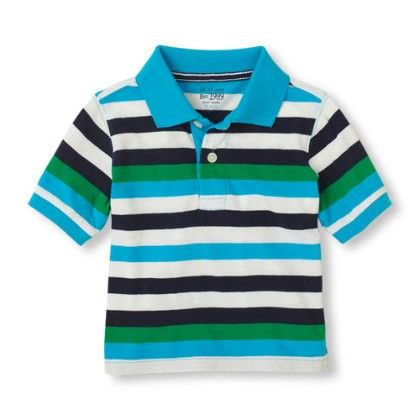 Contrast Stripes Polo - High Land - The Children's Place