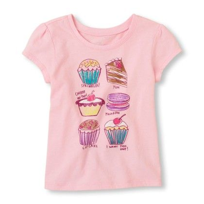 Short Sleeve Yummy Desserts Graphic Tee - The Children's Place