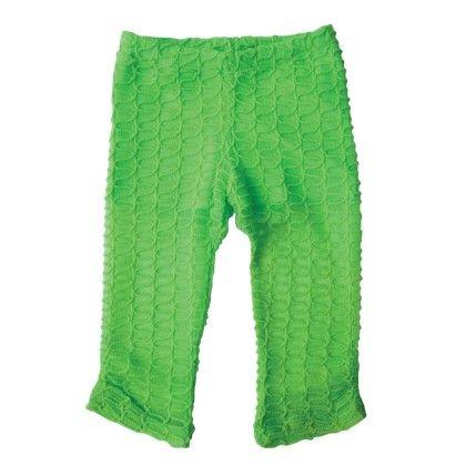 Capri Legging With Ruched Side Seam Hem+ Jersey Short Liner Green - Dedo Kids