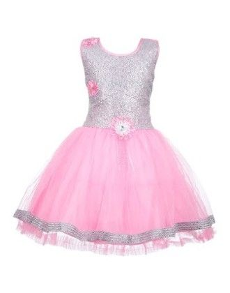 Sequin Dreams In Silver And Pink Party Dress-silver And Pink - BownBee