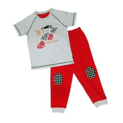Grey Marl With Car Placement Print And Ski Patrol For Bottom - Mackily