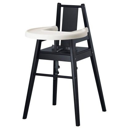 Highchair With Tray - Black - Home Essentials