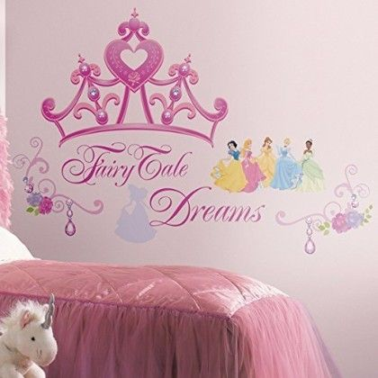 Disney Princess Crown Peel & Stick Giant Wall Decal - Disney Wall Decals