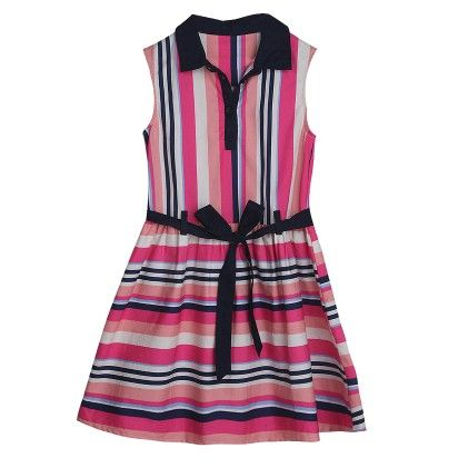 Pink Striped Dress - My Lil'Berry