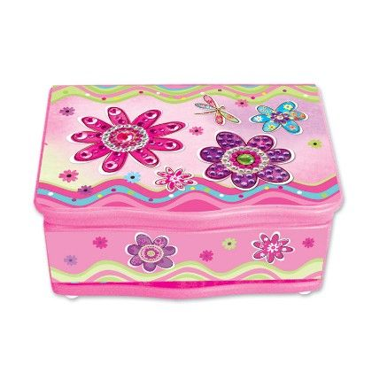 Cottage Garden Get Well Wishes Woodgrain Music Box