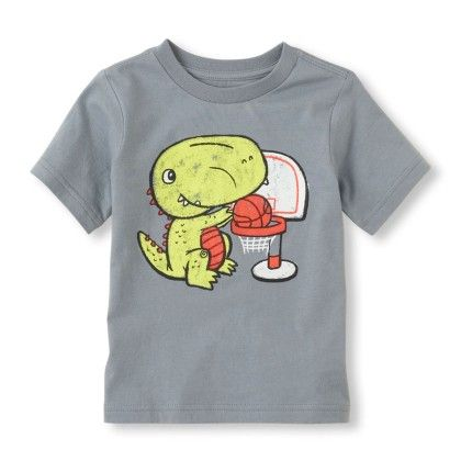 Short Sleeve Dino Print Graphic Tee - The Children's Place