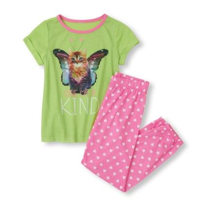 Short Sleeve 'one Of A Kind' Top & Printed Bottoms - The Children's Place