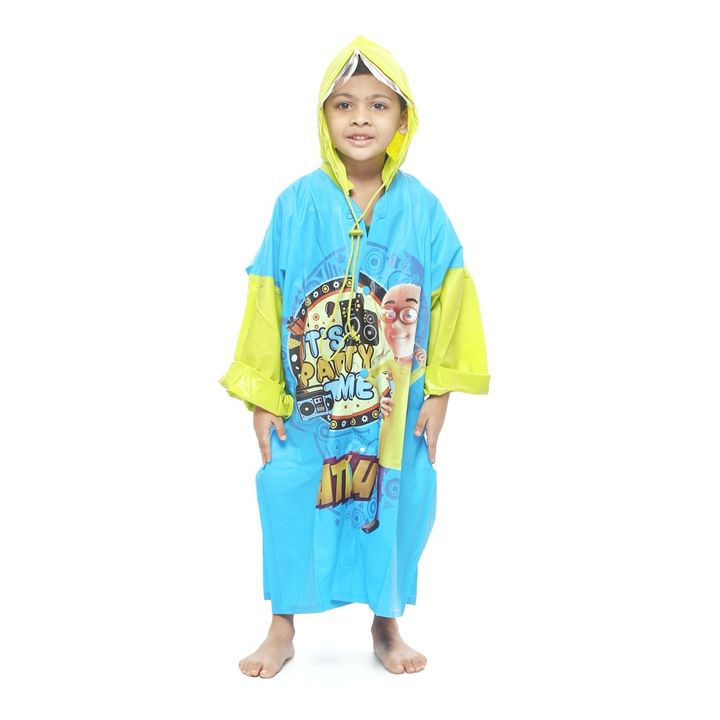 Motu Patlu Raincoat in Blue/Green