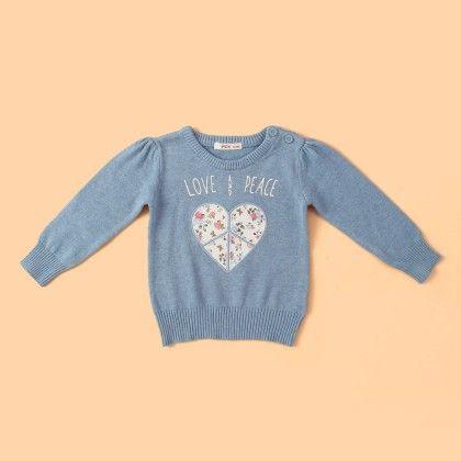 Baby-girls Shirt Knits Sky Blue - FOX