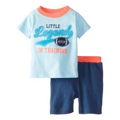 Baby-boys Newborn Little Legends 2 Piece Short Set - Bon Bebe