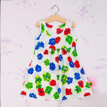 Multi Floral Print Dress - Snuggle Bunny