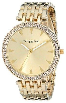 Vernier Paris Women's 7 Link Crystal Bezel  Bracelet Watch - Vernier Watches