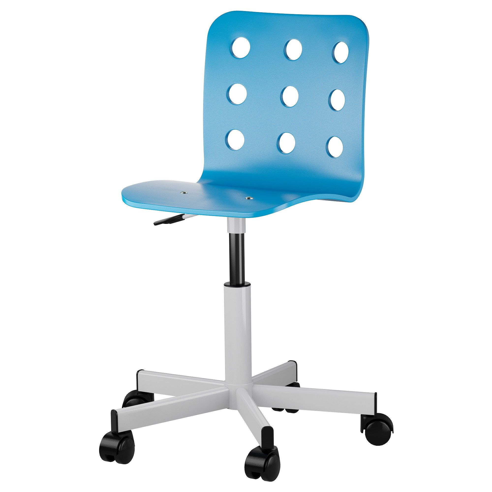 Jules Junior Desk Chair - Blue And Silver Color - Home Essentials