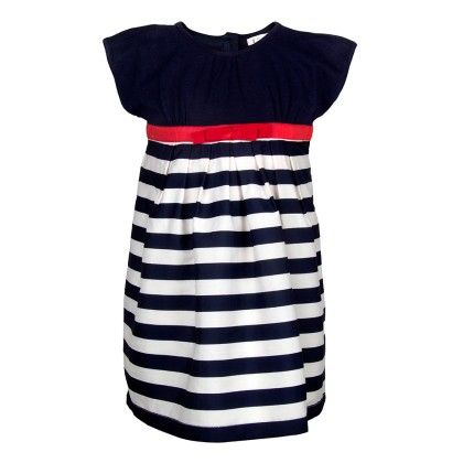 Blue & White Striped Dress - My Lil'Berry