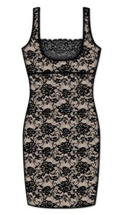 Printed Body Liner Slip-black - Rene Rofe