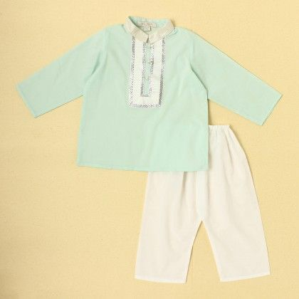 Boys Kurta Pyjama Set -blue - SU.MA By Verandah