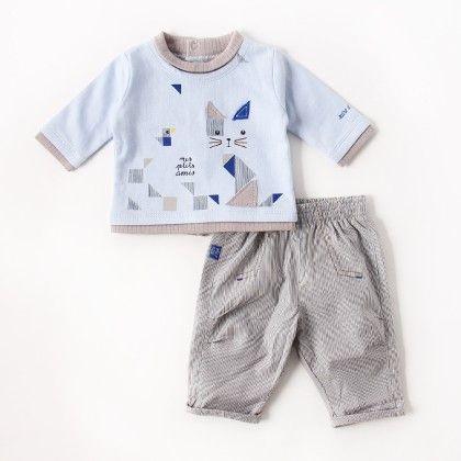 Trousers Set Sky Blue - Sucre D'Orge