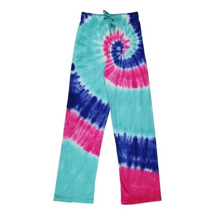 Blue Multi Tie-dye Pant - Candy Pink