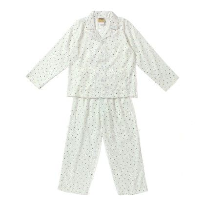 Black Small Heart And Dot Print Night Suit - Hugs & Tugs