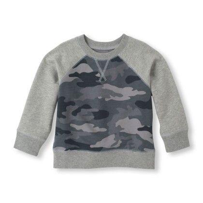 Active Pullover Raglan Sweatshirt - Grey - The Children's Place