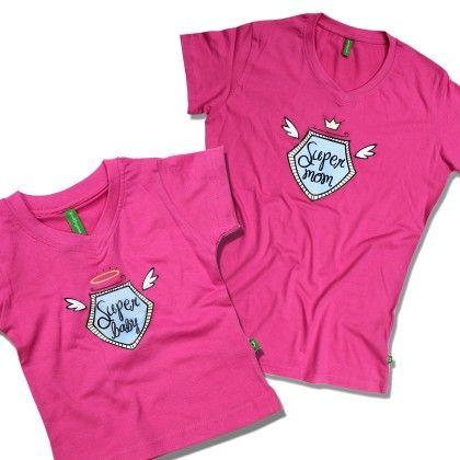 Infant Super Baby V Neck Tee Pink - BonOrganik