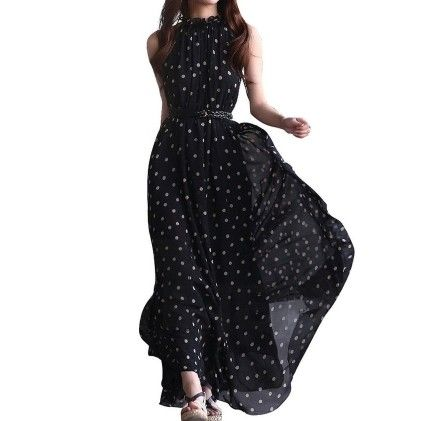 Maxi Long Casual Summer Beach Party Chiffon Dress - OUTOP