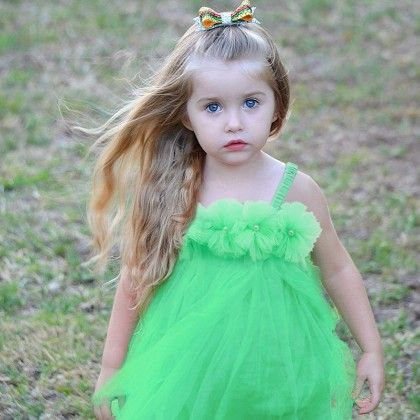 Green Floral Sling Dress - Little Dress Up