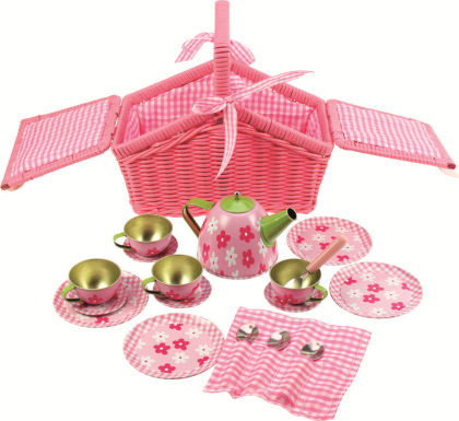 Pink Basket Tea Set - Big Jig Toys