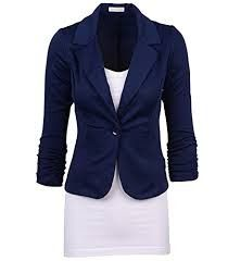 Casual Work Solid Candy Color Blazer-navy - Auliné Collection